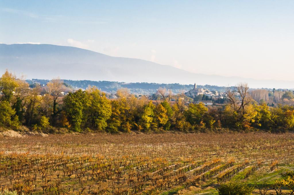 Mirabel aux Baronnies, with Mt. Ventoux